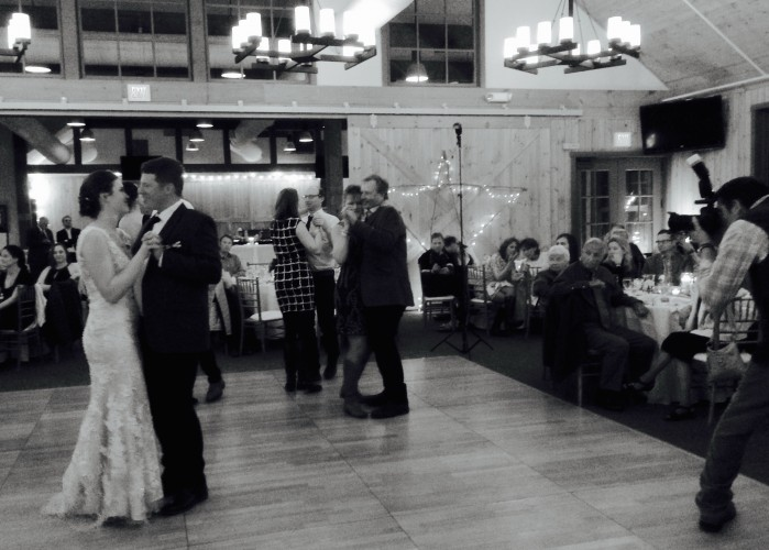 Photo of me taking a Photo of the Photographer during the first dance.